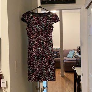 Multicolor leopard print dress
